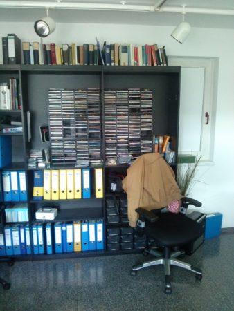 Bücher im Studio